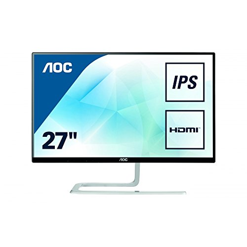 AOC I2781FH Ultra Slim Design 27-Inch 1920 x 1080 LED Monitor - Silver/Black