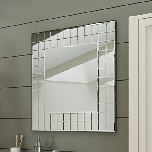 600 x 600 mm Modern Bathroom Mosaic Square Designer Wall Mirror MC152