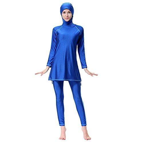 ischer Badeanzug Muslimische Schwimmanzug Schwimmen Kostüme Frauen Islamische Muslim Hijab Volle Abdeckung Bademode Badeanzüge Tankinis Sonnenschutz Bademode Sets Einfarbig Sommer Beachwear Badeanzüge (In Voller Länge Schwimmen Kostüme)