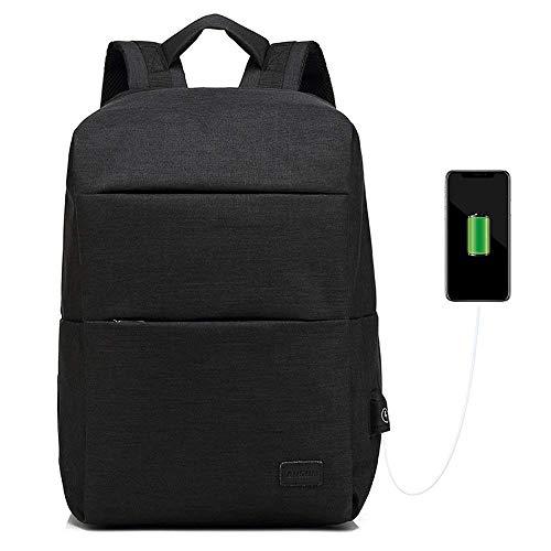 Rookly laptop backpack business school bookbag casual anti-theft water resistant zaino da viaggio con porta usb di ricarica per uomo/donna,black
