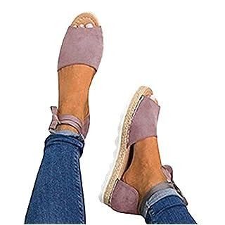 Minetom Damen Sandalen Süßigkeitsfarbe Flache Badesandale Schuhe Flip-Flops Sommer Bequeme Frauen Übergröße Offene Elegante Mode Casual Violett EU 40