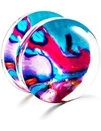 JUZIWEI 1 par Dilataciones Orejas Acrílico de Expansor de Túnel Hombre Mujer 8-16MM,