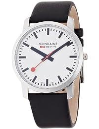 Mondaine - A672.30350.11SBB - Montre Homme - Quartz Analogique - Bracelet Cuir Noir