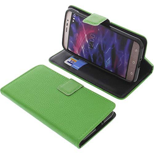 foto-kontor Tasche für MEDION Life P5006 Book Style grün Schutz Hülle Buch