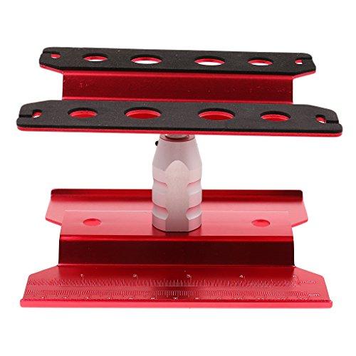 D DOLITY Montage Plattform Arbeitsständer Reparatur für 1/10 1/8 RC HSP HPI Truck - Rot