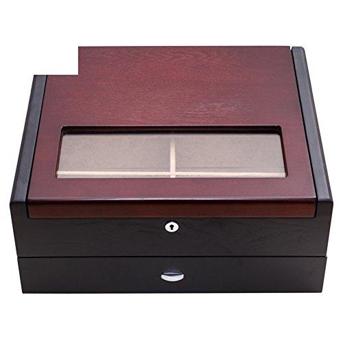 Double solide Holzqualität Sonnenbrille/ dunkle Brille Sammelboxen zu erhalten/ hölzerne Schmuckschatulle/ locking Aufbewahrungsbox-A