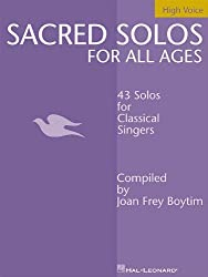SACRED SOLOS FOR ALL AGES HIGH VOICE by Joan Frey Boytim (2002-09-01)