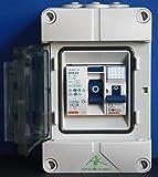 grenda-hammer® Verteiler Stromanschluss für Camping + Garage mit FI Schalter 30mA + 1x B16 (Einbaugeräte Gewiss)