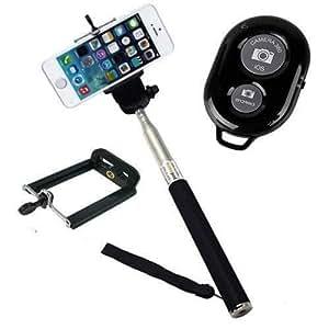 Extendable Self Portrait Selfie Handheld Stick Monopod + Wireless Bluetooth Remote ControlFor Google Nexus 4