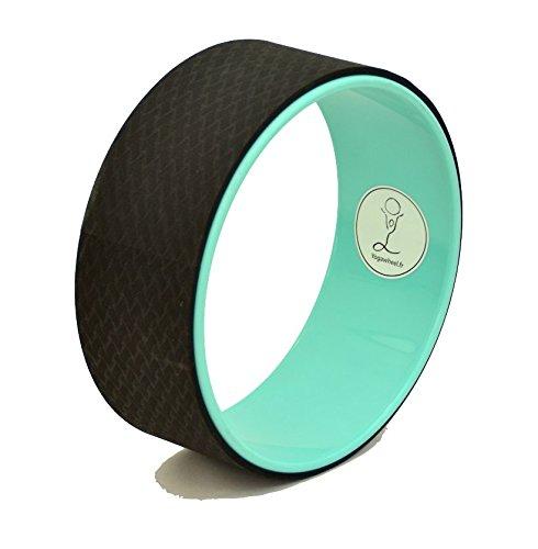 Yoga Wheel© - Happy - Orange et noir + Guide d'utilisation en PDF - L'accessoire indispensable au Yoga (Vert, Unique)