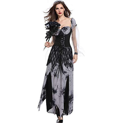 LBFKJ Rollenspiele, Halloween Spielfigur Uniform, Cos Devil Vampir Geist Braut Tod Bühne Make-up Spiel Bühne ()