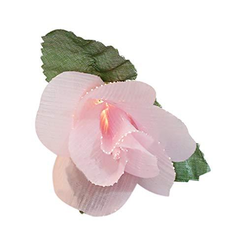Nncande 10 LED Light - Faser Rosen Lichterkette Schnur - Weiße Pulver Künstliche Blume - Licht Lampe Für Valentinstag, Weihnachten ,Vorhanglicht Fenster, Türen, Böden, Bäume, Gras Hof Yard Lawn Dekor -