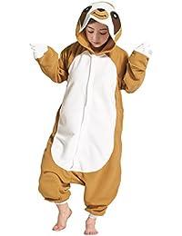Hstyle Niños Unisexo Animale Pijama Cosplay de Vestuario Ropa de Dormir Halloween y Navidad Flanela Cartoon Onesies Pijamas elPerezoso