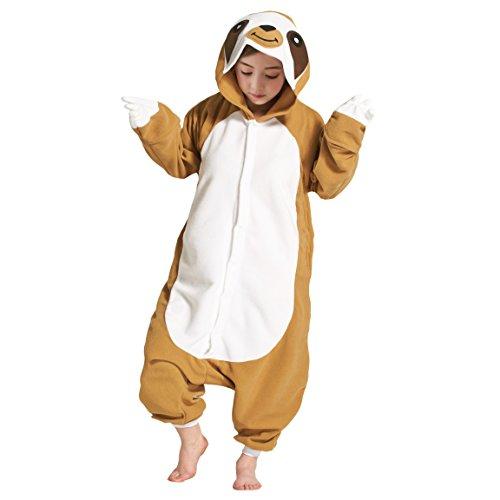 Hstyle Unisex Kinder Pyjamas Karton Fasching Jumpsuit Tier DasFaultier Halloween Kostüm Sleepsuit Cosplay Tierkostüme (140 (Vorschlagen Höhe:138cm-146cm))