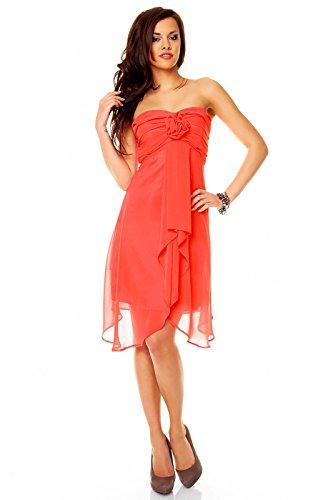 Très mignonne arrivant aux genoux avec robe bandeau aHHS255 chiffon rose korall (Sw 42)