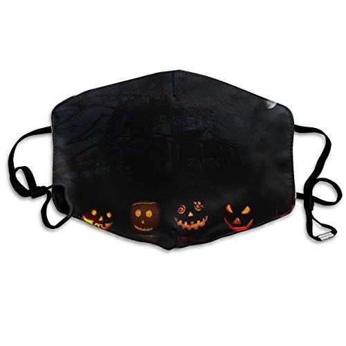 Daawqee Staubschutzmasken, Anti Dust Face Mouth Cover Mask Happy Halloween Pumpkin Anti Pollution Breath Healthy Mask