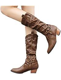 37c9f96421e0 Amazon.fr   Tige Mi-mollet - Bottes et bottines   Chaussures femme ...