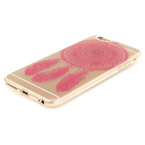 iphone 6 Plus / 6S Plus Hülle,iphone 6 Plus / 6S Plus Case,iphone 6 Plus / 6S Plus Silikon Hülle [Kratzfeste, Scratch-Resistant], Cozy Hut iphone 6 Plus / 6S Plus Hülle TPU Case Schutzhülle Silikon Cr Rose Red Campanula