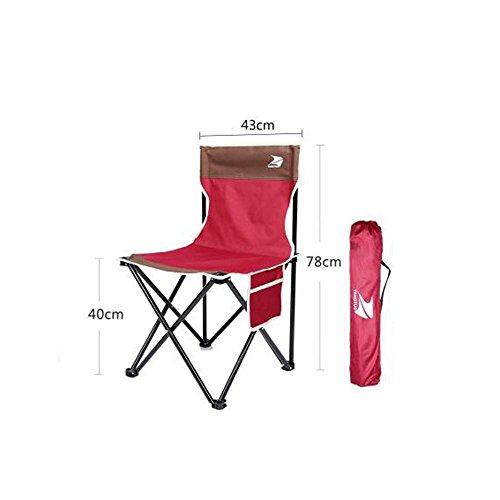 Jack Mall Einfache Gelegenheit ohne Armlehne Klappstuhl Outdoor Portable Fischen Stuhl Camping Strand Stuhl (Farbe : Rotwein)