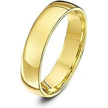 Theia Alianza unisex de oro (18k), forma corte, pesada, pulido
