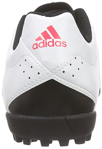 adidas Goletto V Tf, Chaussures de Football Compétition Homme Blanc - Weiß (Ftwr White/Night Met. F13/Shock Red S16)