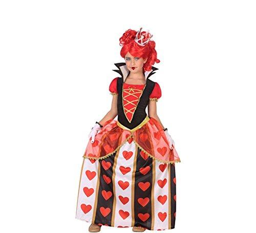 (ATOSA 56870 Königin der Herzen Kostüm für Mädchen Costume Queen of Hearts 3-4, Weiss/Schwarz/Rot, 3 a 4 años)