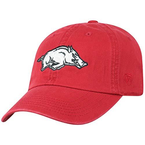 - Team Farbe Ausgestattet Hut (Top of the World NCAA Verstellbare Mütze mit Team-Farbe, Damen, Arkansas Razorbacks Cardinal, Einstellbar)