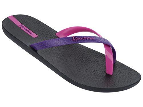 Sandales pour femme mix color 81137 ipanema - schwarz-violett-rosa