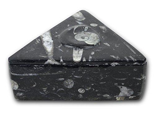 Schwarzes Dreieck geformt, poliert & Tablettenboxen / Jewllery / Schreibtisch ordentlich mit...