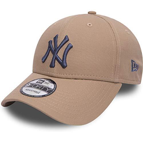 New Era 9forty League Essential NY Yankees Cap, beige - blau, 1 SIZE