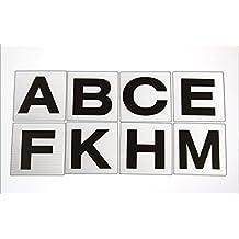 8 Large Dressage Markers - Black on White - ABCE FHKM