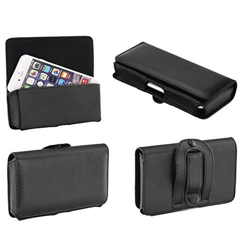 Supercase24 Quertasche für Siswoo R8 Monster Case Handy Tasche Schutz Hülle Etui Cover Quer Gürtel Clip