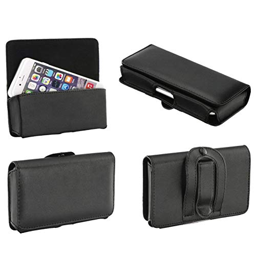 Supercase24 Quertasche für Doro Primo 305 Case Handy Tasche Schutz Hülle Etui Cover Quer Gürtel Clip