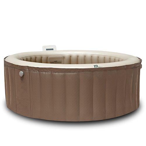 Whirlpool In-Outdoor Pool Bubble Spa Wellness 4 Hydrojet-Unterwasserstrahl Massage-Düsen Heizung aufblasbar Ø180x70cm 4 Personen 118 Massagedüsen digitale Steuerung
