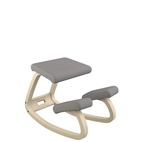 Varier variable seduta ergonomica, legno, grigio scuro, 72x52x51 cm