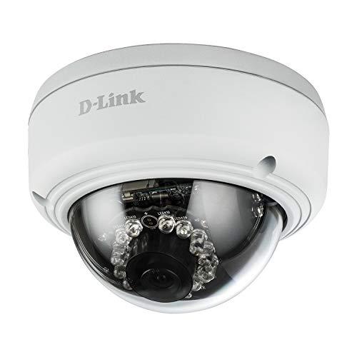 D-Link DCS-4603 PoE Dome Überwachungskamera (Aufnahmen in Full-HD-Qualität, für den Innenbereich, Tag und Nacht)