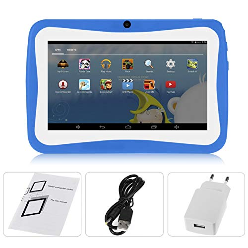 7-Zoll-Kinder-Tablet PC Android 4.4.2 Tablet 1.5GHZ Quad Core 8GB WiFi Tablette 1024x600 HD Schirm Kinder Bildung Gerät (blau)