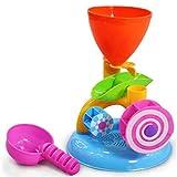 JullyeleITgant 1PC Cute Windmill Waterwheel Estate Gioca a Giochi d'Acqua di Sabbia Piscina Balneazione Beach Party I Bambini Giocano Giocattolo da Bagno