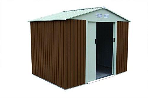 Caseta de jardín metálica Gardiun Cambridge marrón 4,72 m²