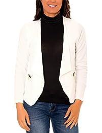 b9503cfbe758 Amazon.fr   Blanc - Tailleurs   Femme   Vêtements