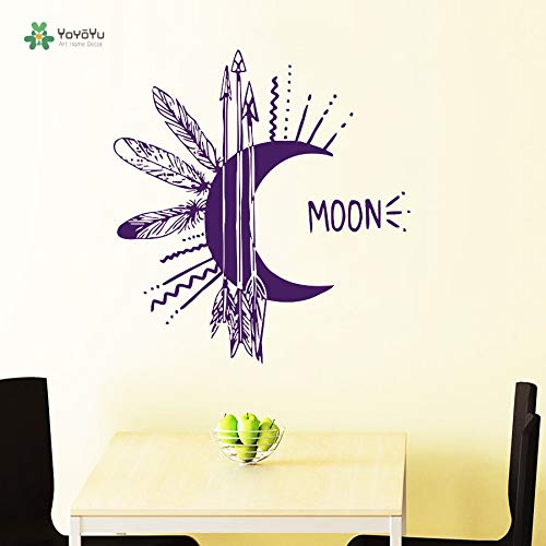 zxddzl Wall Decal Bedroom Decoration Accessories Vinyl Repetable Wall Sticker Moon Wall Decals Boho Arrows Decal 76x72cm