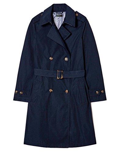 United Colors of Benetton Damen Mantel Trench Coat with Belt, Blau (Navy), Gr. 38 (Herstellergröße: 44)