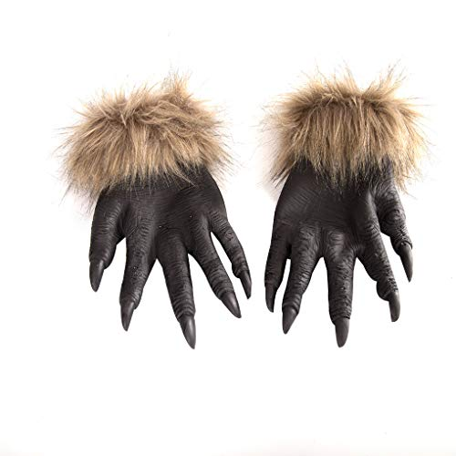 Wolf Halloween Kostüm - ELENXS Halloween Wolf Hände Claws Latex Horrific Kostüm Glove Creepy Cosplay Werkzeug Dekoration