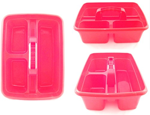 red-plastic-cleaning-caddy-cleaners-carry-all-basket-tote-tray