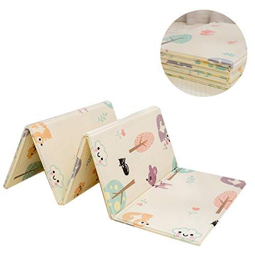 Dittzz - Alfombra de juegos para bebé, plegable, de espuma XPE, antideslizante, portátil, resistente al agua, alfombra para bebés, 200 x 150 cm b Talla:200 x 150cm