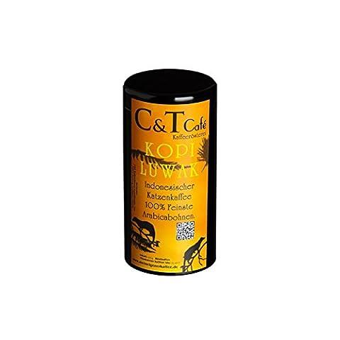 Kaffee Rarität edles und hochwertiges Geschenk Set Kopi Luwak Arabica 100 g (von freilebenden Tieren) gemahlen in der Dose zum verschenken frisch