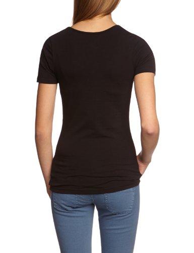 Garage Damen T-Shirt 701 - T-shirt R-neck bodyfit Slim Fit Schwarz (black 200)