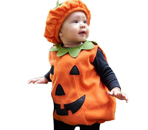 Legendeiu - Disfraz Infantil de Calabaza para Halloween, Disfraz de Calabaza con Sombrero cómico (Naranja) naranja1 0-6 Meses