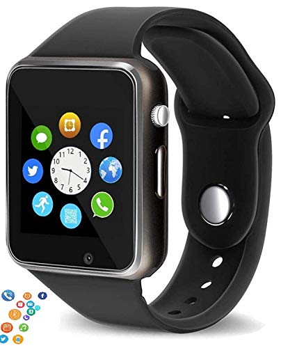 Ispite® Smart Watch A1 Black Bluetooth Smartwatch Watch Android with Camera/SIM Card Slot Sports Watch Compatible with All Mobile Phones for Mens | Boys and Girls (Black)