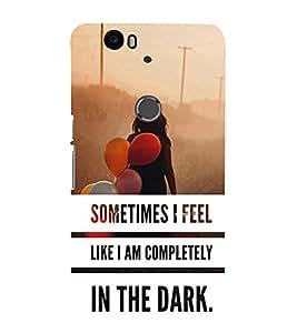iFasho Designer Back Case Cover for Huawei Nexus 6P :: Huawei Google Nexus 6P (Pink Delhi Pollution In The Dark)
